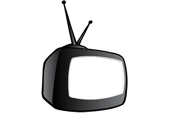 Cartoon TV with Knockout Screen