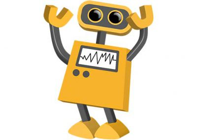 Robot 03: Excited, Turned Right