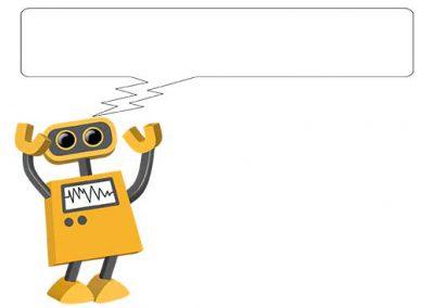 Robot 08: Electronic Speech Bubble