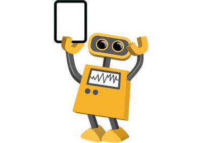 Robot 22: Bot Holding Solid Tablet
