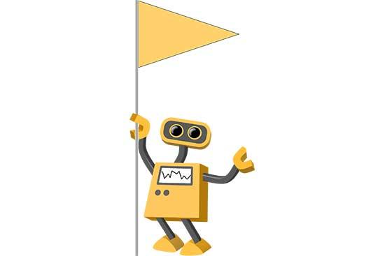 Robot 25: Pennant Holder