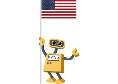 Robot 39-US: Flag Bot, United States