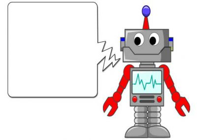 Friendly Robot Cartoon Slide