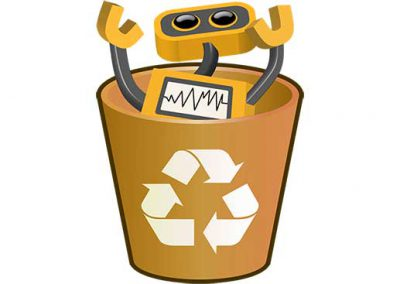 Robot 62: Bot in Recycle Bin