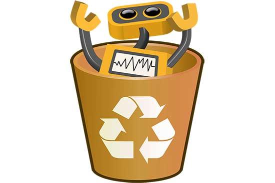 Robot 62: Bot in Recycle Bin