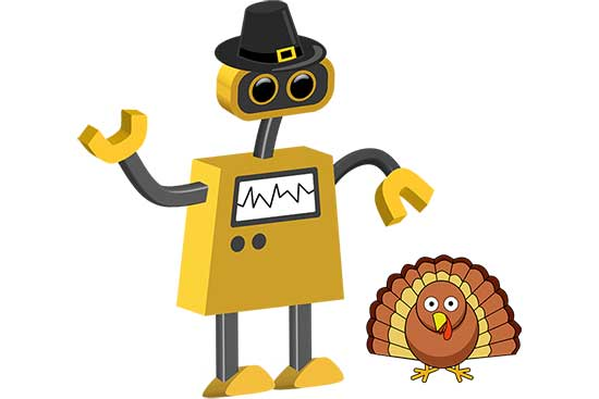Robot 66: Pilgrim Bot and Turkey