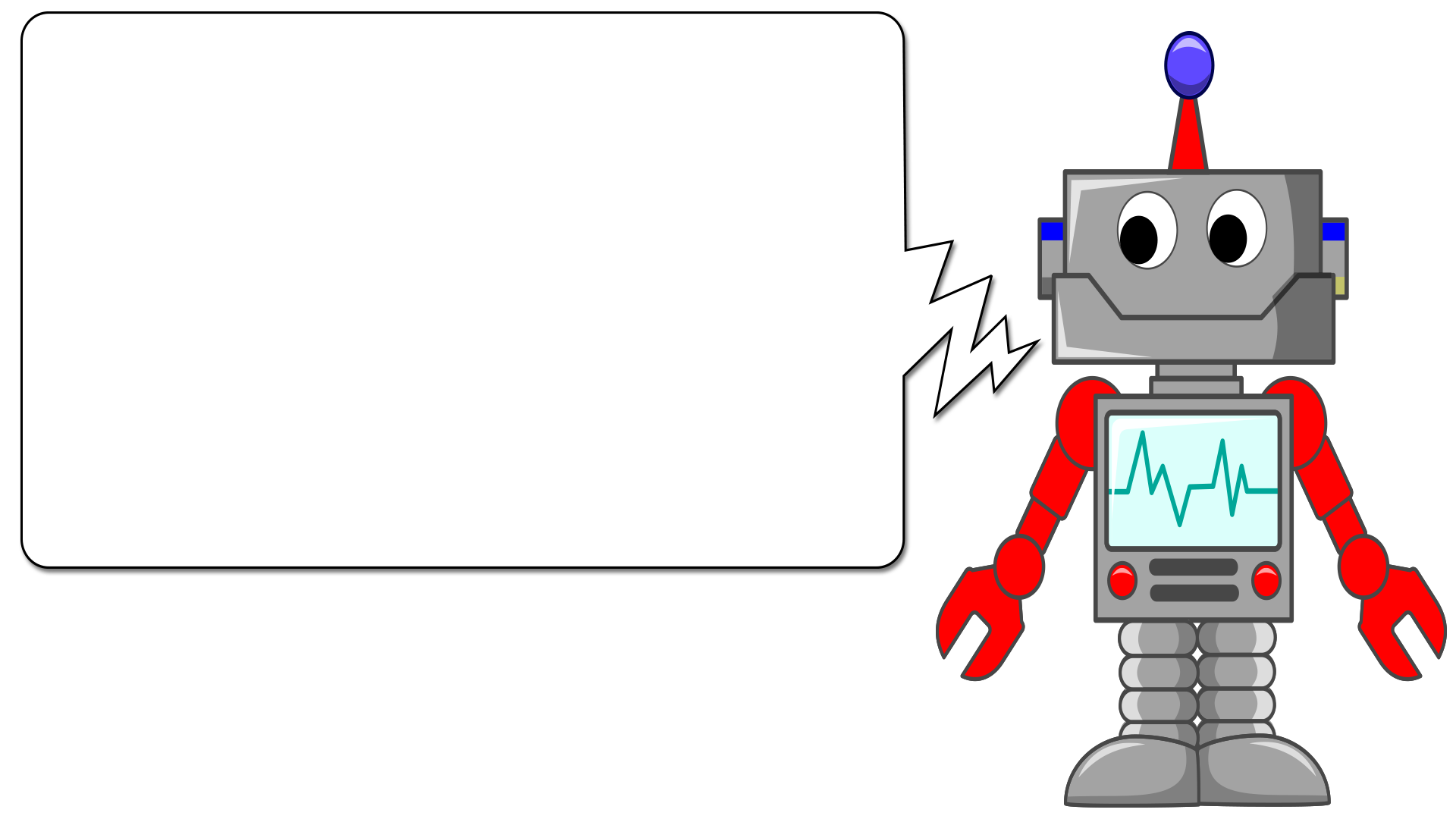Friendly Robot Cartoon Slide Tim