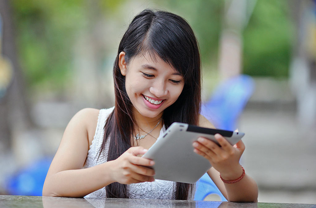 Young Woman and Tablet