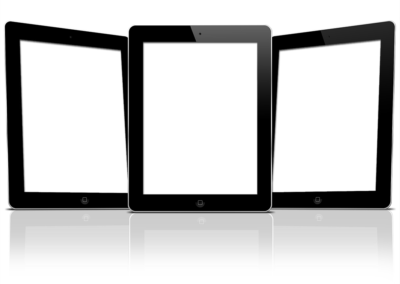 Three Tablets with Screen Knockouts