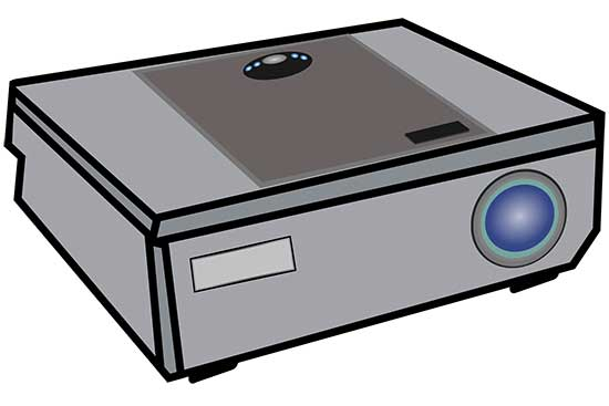 Video Projector Illustration