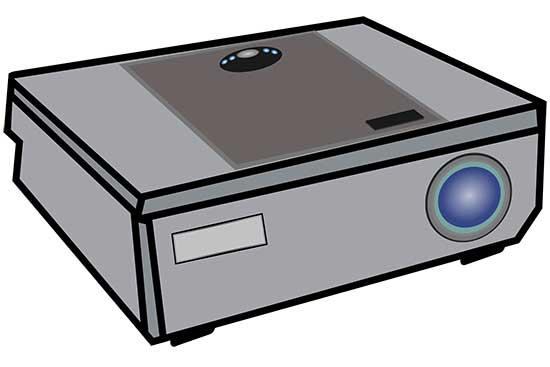 Video Projector Illustration