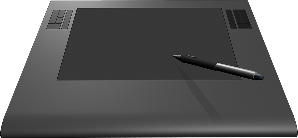 Graphics tablet and pen tim the tablet has buttons on either side and no connecting wire png image with transparent background voltagebd Gallery