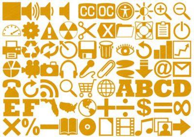 160 Metallic Gold Icons