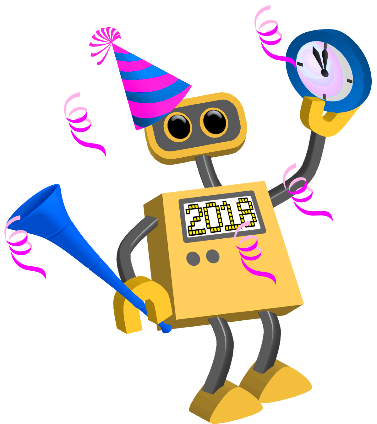 robot 76 happy new year 2018
