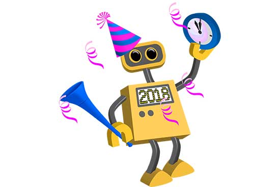 Robot 76: Happy New Year 2018
