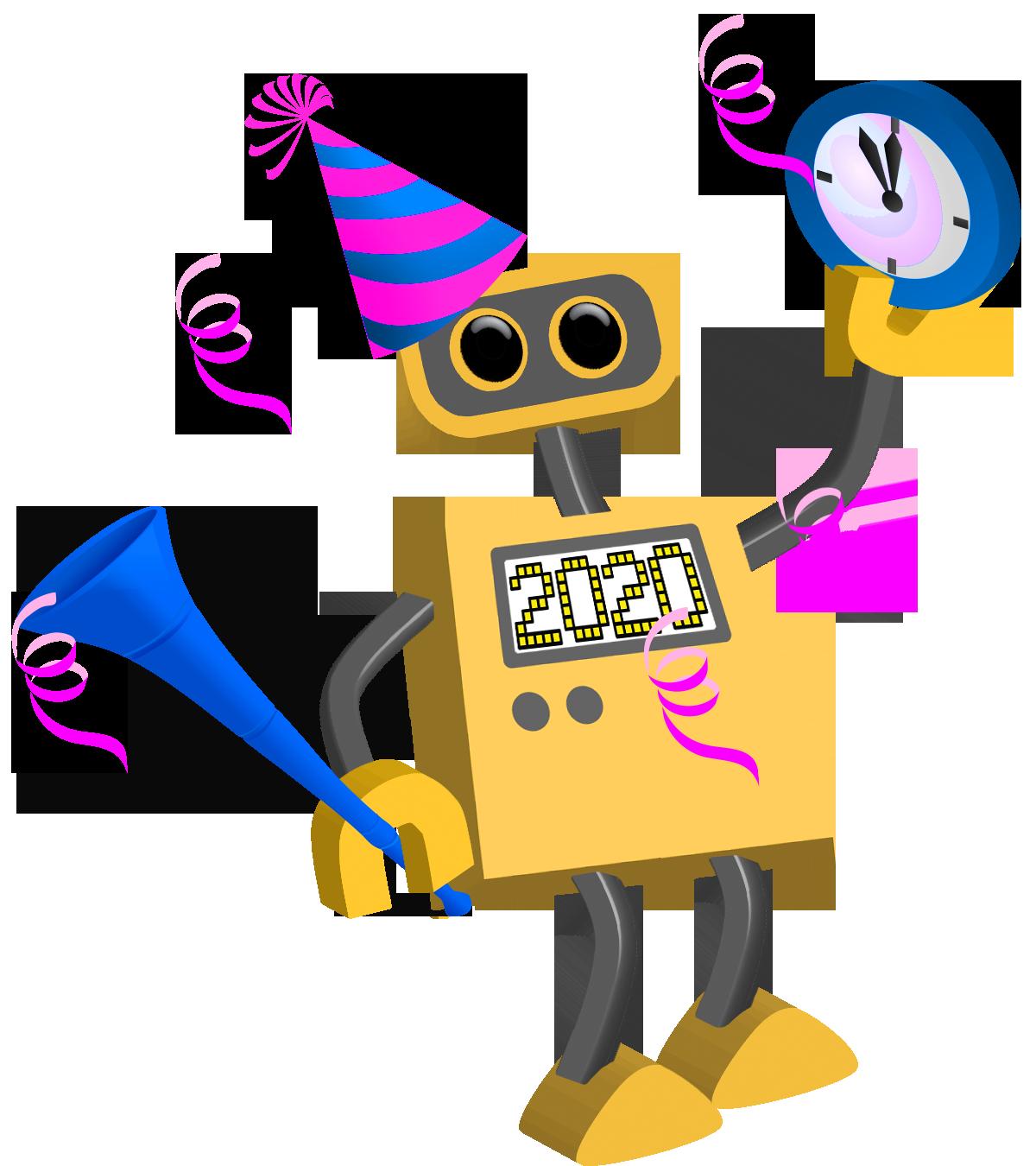 Robot 76: Happy New Year 2020 | TIM