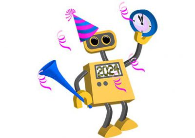 Robot 76: Happy New Year 2024