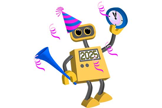 Robot 76: Happy New Year 2025