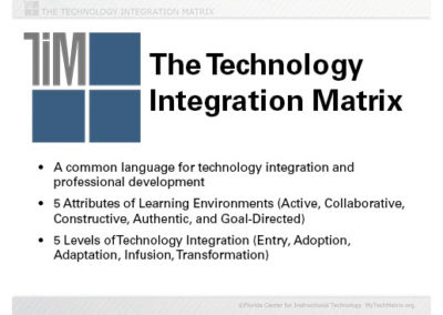 Technology Integration Matrix Overview Slide