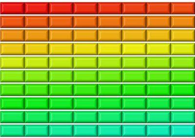 175 Small Rectangular Buttons