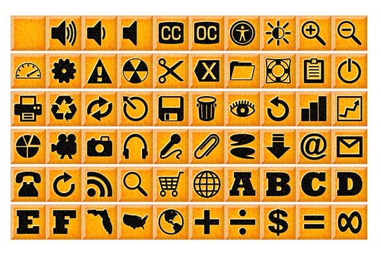 160 Sunburst Icon Buttons