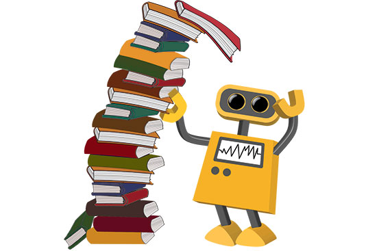 Robot 82: Leaning Tower of Books