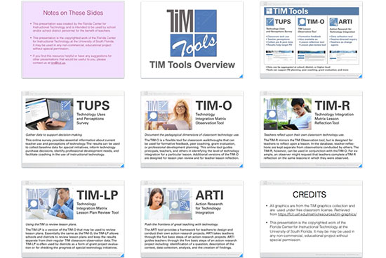 TIM Tools Overview