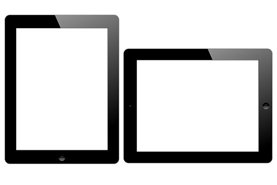 Two iPads with Knockout Screens