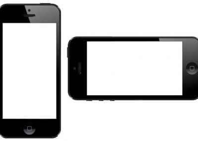 Two iPhones with Knockout Screens