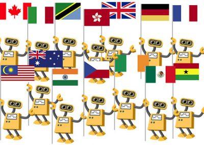 Flag Robot Nationality Collection