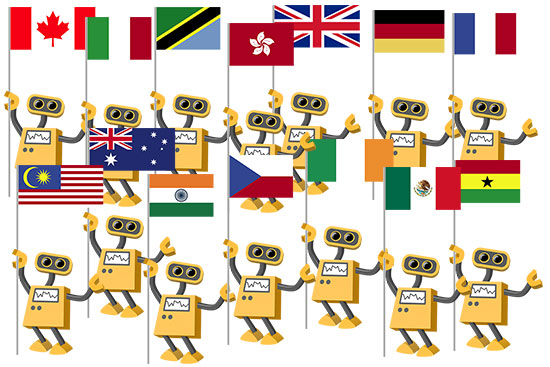 Flag Robot Nationality Collection