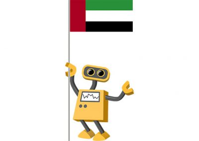 Robot 39-AE: Flag Bot, United Arab Emirates