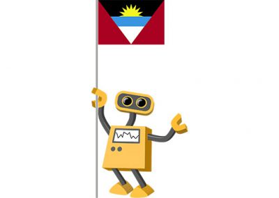 Robot 39-AG: Flag Bot, Antigua and Barbuda