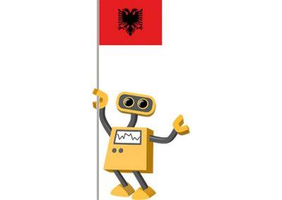 Robot 39-AL: Flag Bot, Albania