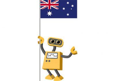 Robot 39-AU: Flag Bot, Australia