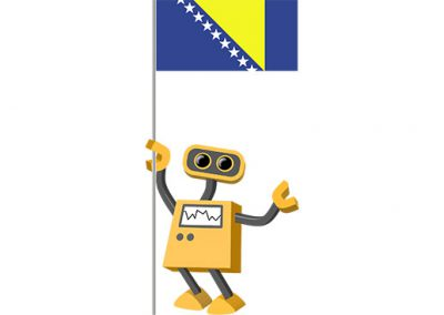 Robot 39-BA: Flag Bot, Bosnia and Herzegovina