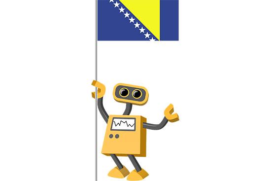 Robot 39-BA: Flag Bot, Bosnia and Herzegovina
