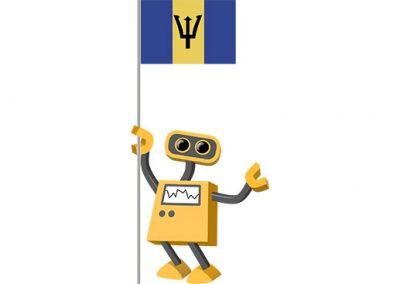 Robot 39-BB: Flag Bot, Barbados