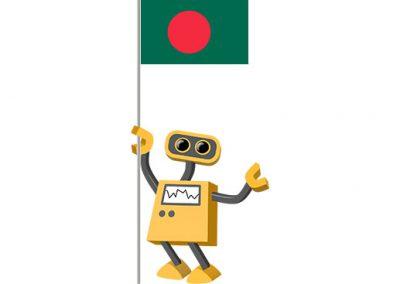 Robot 39-BD: Flag Bot, Bangladesh