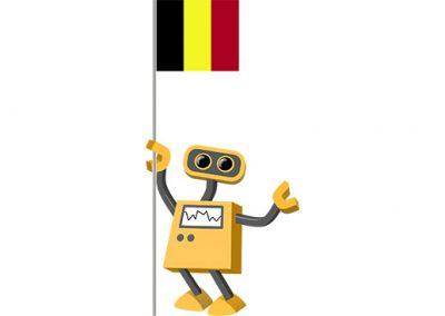 Robot 39-BE: Flag Bot, Belgium