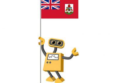 Robot 39-BM: Flag Bot, Bermuda