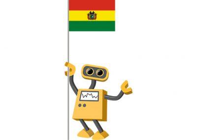 Robot 39-BO: Flag Bot, Bolivia