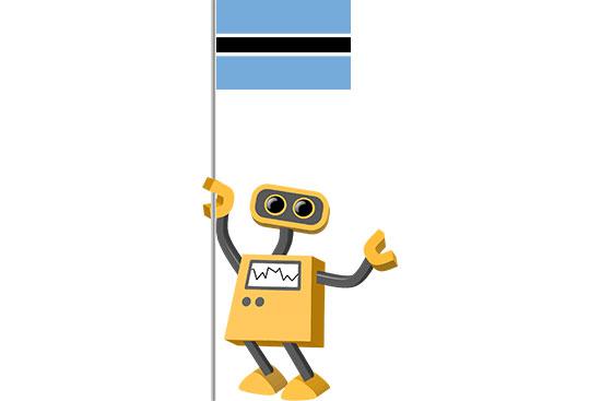 Robot 39-BW: Flag Bot, Botswana