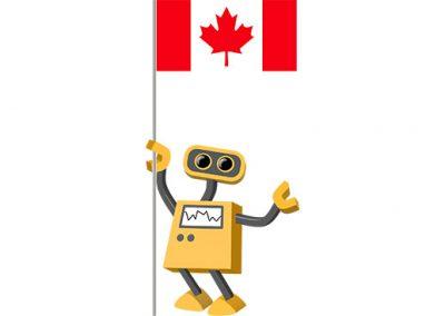 Robot 39-CA: Flag Bot, Canada