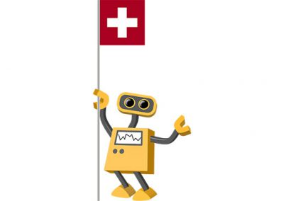 Robot 39-CH: Flag Bot, Switzerland