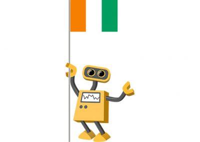 Robot 39-CI: Flag Bot, Ivory Coast