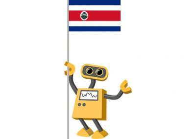 Robot 39-CR: Flag Bot, Costa Rica