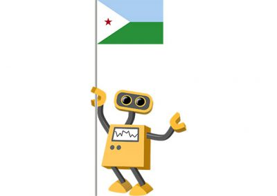 Robot 39-DJ: Flag Bot, Djibouti