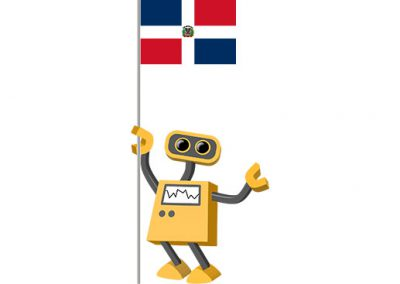 Robot 39-DO: Flag Bot, Dominican Republic