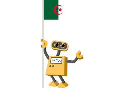 Robot 39-DZ: Flag Bot, Algeria
